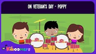 The Poppy Song for Kids | Veterans Day Songs for Children | The Kiboomers