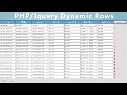 ADD DYNAMIC FIELDS TO FORMS WITH JQUERY AND PHP
