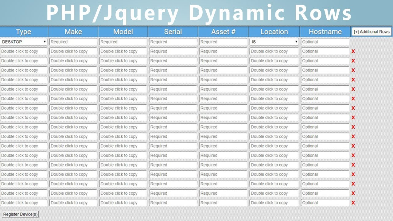 ADD DYNAMIC FIELDS TO FORMS WITH JQUERY AND PHP - PART 1