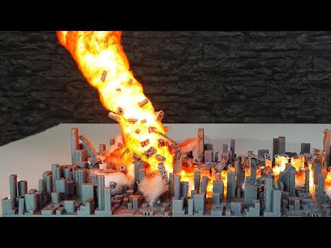 How to make FIRE TORNADO Diorama