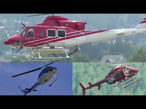 Wildfire Fighting Helicopters In Action