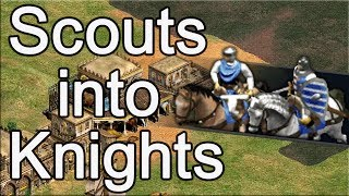 AoE2 Build Order   Scouts into Knights!