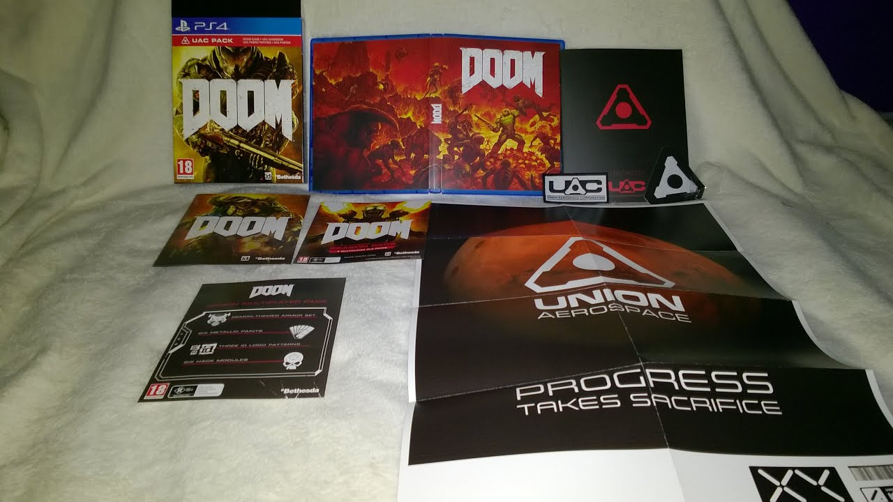 DOOM UAC Pack Unboxing - YouTube