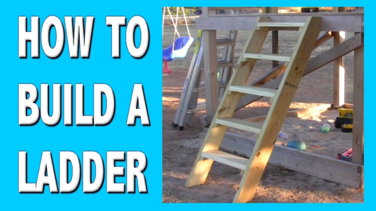 HOW TO BUILD A LADDER  YouTube