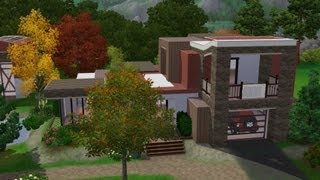 The Sims 3 House Design - Modern Red