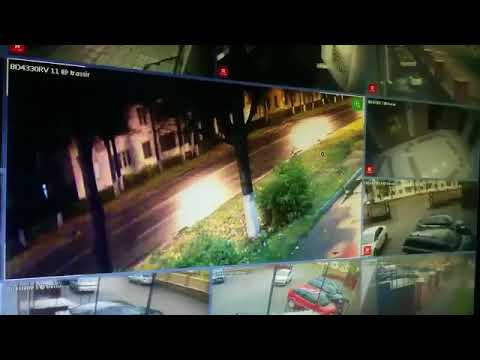 Видео момента аварии на Ленинском проспекте