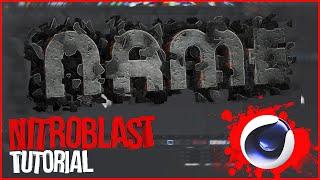 Cinema 4D Tutorial: Nitroblast - Как сделать красивый текст