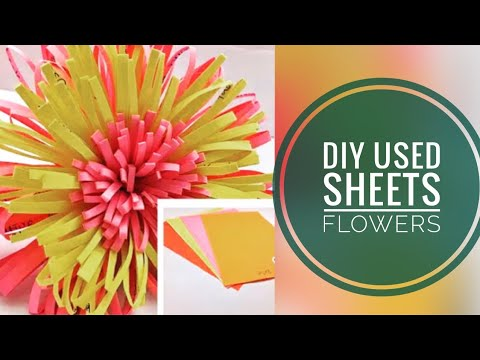 | How to make paper flowers with used papers | DIY paper craft | by store of arts