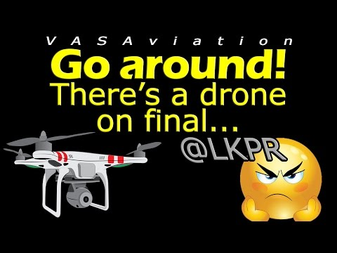 [REAL ATC] A DRONE on final APPROACH at PRAGUE LKPR!!!