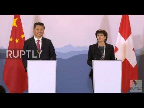 Switzerland: Leuthard and Xi Jinping address free trade, bilateral ties