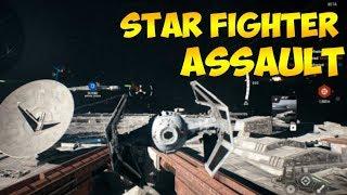 STAR FIGHTER ASSAULT - Full Round Of Gameplay - FONDOR Battle - STAR WARS BATTLEFRONT 2 BETA