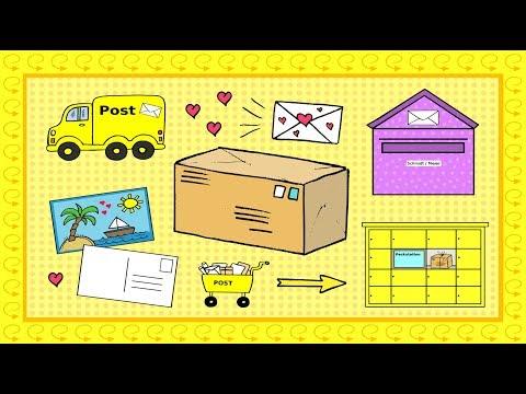 Deutsch lernen: Post / Briefe schreiben / Pakete schicken - learn German: mail / letters
