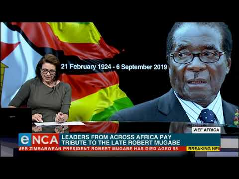 Tributes continue to pour in for former Zimbabwean president Robert Mugabe