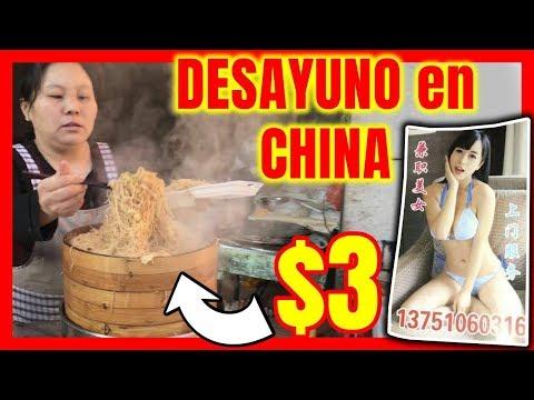 ASI es un DESAYUNO en CHINA de $3 pesos!