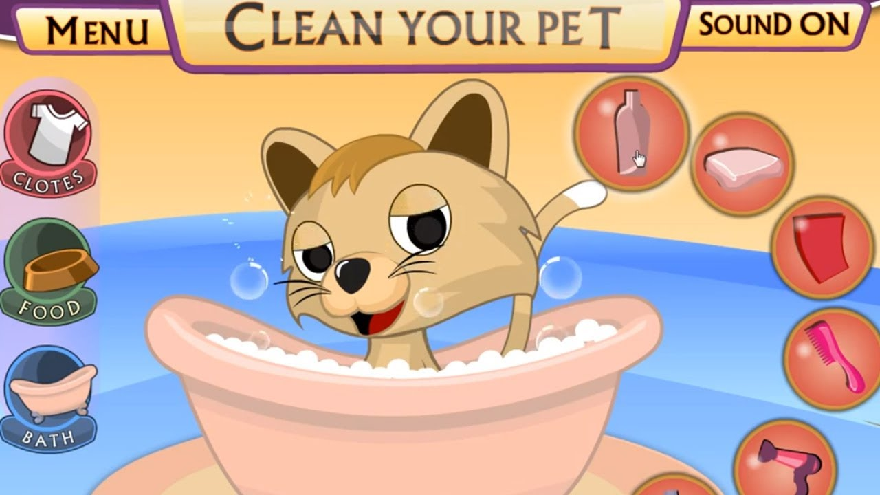 Dress up your pet game - Pet Shop Funny Kitty Bathing Dress Up Game For Little Kids Youtube