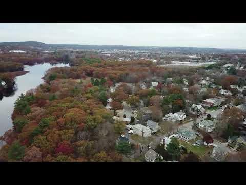 Auburndale Massachusetts drone flyover