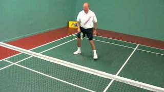 How to play Half Court Badminton 1