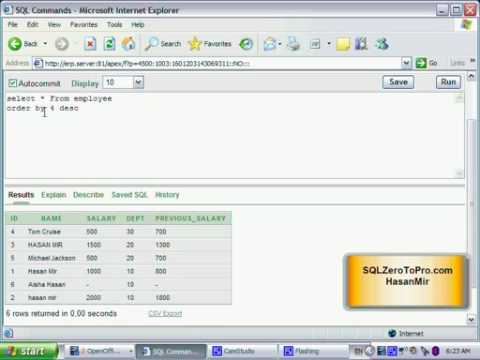 Sorting in Descending Order in SQL Using Order By Desc Clause - SQL LESSON 29