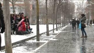 La nieve cubre Euskadi
