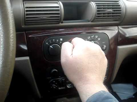Dodge Stratus Chrysler Sebring Heater Problem Tip Youtube