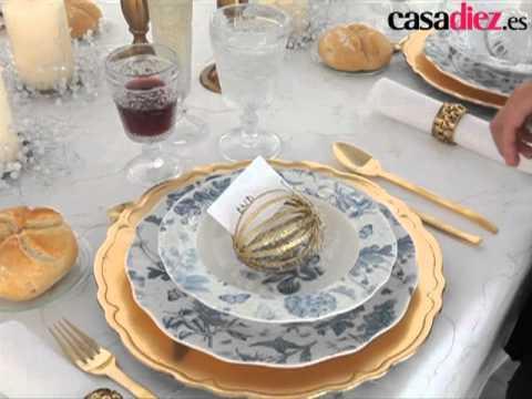 Aprende a decorar mesas navide as 2 youtube - Decorar mesas navidenas ...