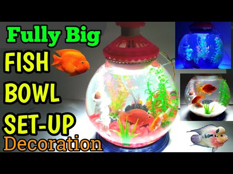 HOW TO: 3 GALLON FISH BOWL FULLY SET-UP & DECORATION || Fully  Big Bowl Setup | How To Maintain Fish