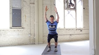 One-Minute Abs: Chair Pose Touch With Nicky Holender