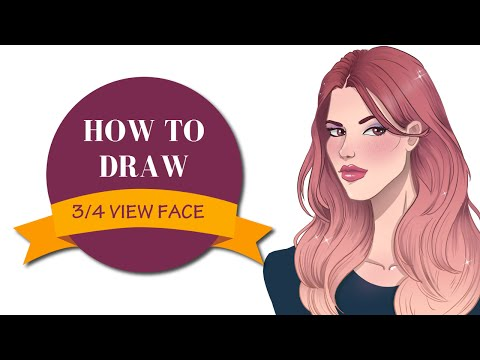 How to draw 3/4  view face | I Draw Fashion