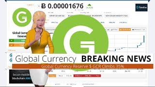 Cryptocurrency Global Currency Reserve $GCR Appreciates 35% During the Last Day