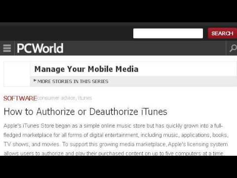 How-To Authorize An Itunes Account To Your PC
