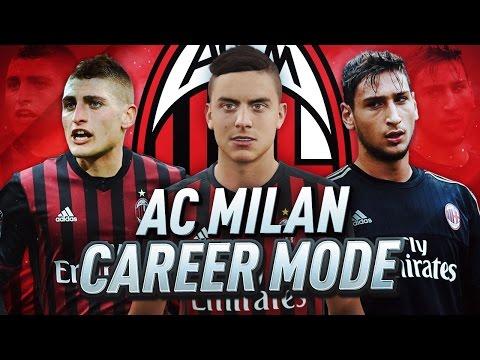 AC MILAN CAREER MODE!!! FIFA 17 RETURN TO GLORY #1