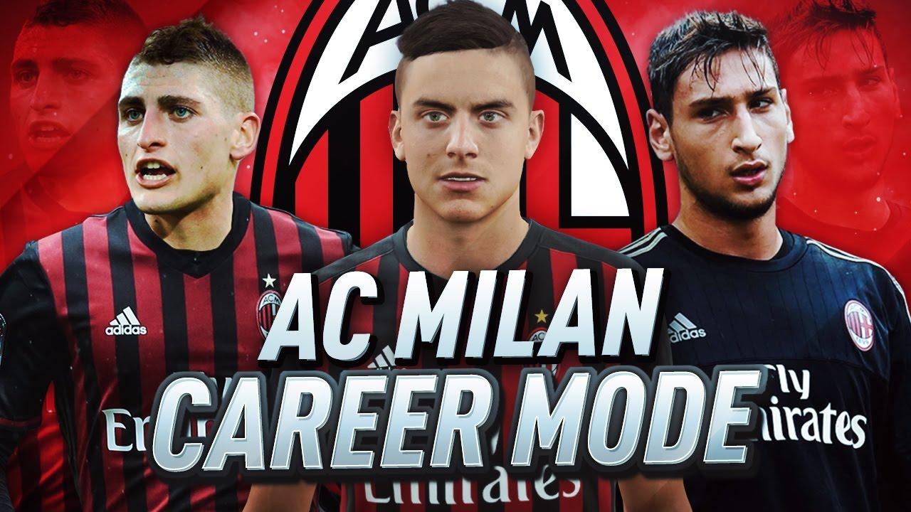 Ac milan career mode fifa 17 return to glory 1 youtube for Fifa 17 milan