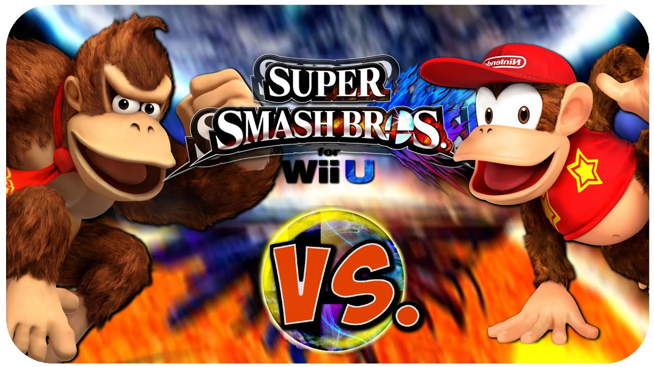 donkey kong vs diddy kong super smash bros wii u youtube