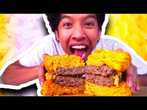DIY HOW TO MAKE Mac 'N Cheeseburger!!!