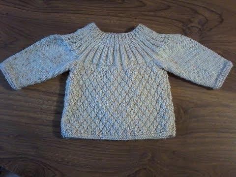 7f941c9387cbd DIY   tuto tricot   tricoter une brassière bébé au point cloqué ...