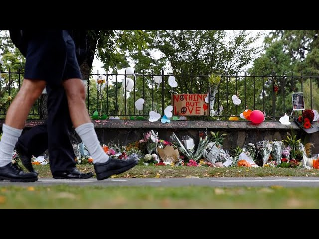 Christchurch workers and students return to high police presence after shootings