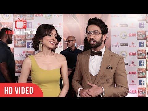 Nakuul Mehta with wife Jankee Parekh at 17th Indian Television Academy Awards 2017 | ITA Awards 2017