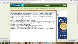 Gambar cover How to earn Bitcoin -   Earn free bitcoin every second