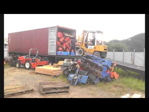 Loading Of Used Japanese Tractors And Farming Machines/K.H.S