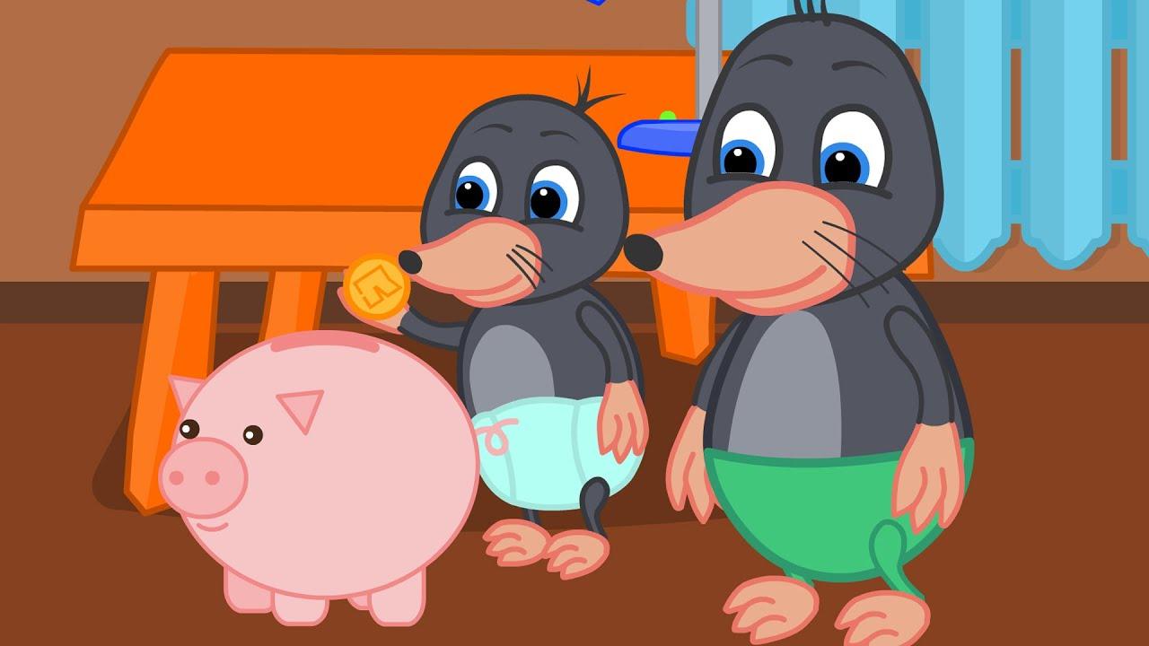 Benny Mole em Español - Cerdo Rosa Hucha Dibujos animados para niños