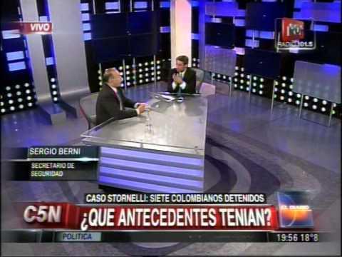 Sergio Berni habló sobre los delincuentes extranjeros.