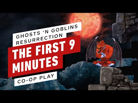 The First 9 Minutes of Ghosts 'n Goblins Resurrection Co-Op Nintendo Switch Gameplay