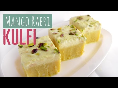 Mango Rabri Kulfi Recipe Two-in-One Kulfi Recipe - Indian Vegetarian Ice Cream - Lata's Kichen