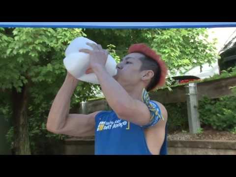 Kobayashi Completes the Gallon Milk Challenge - YouTube