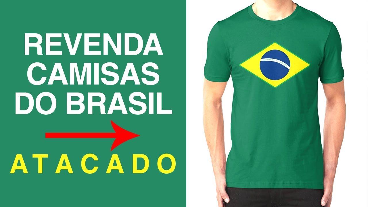 fb77ec3db2 Revenda Camisa do Brasil - Camisas do Brasil no Atacado - Camisa Copa 2018