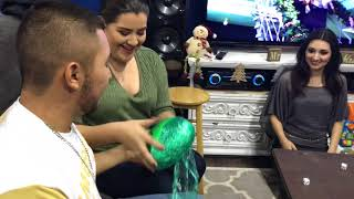 Fun Christmas Games! Saran Wrap Game   2017