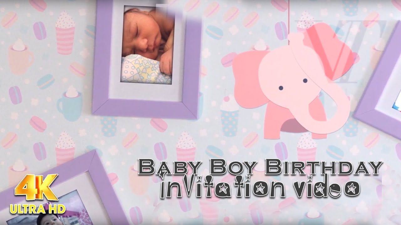 Baby Boy Birthday Invitation Video VTEV YouTube - Birthday invitation video
