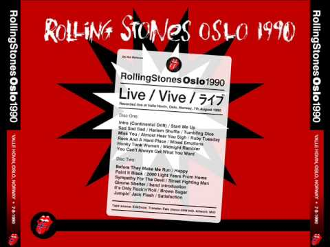 The Rolling Stones live in Oslo [7-8-1990] - Full Show