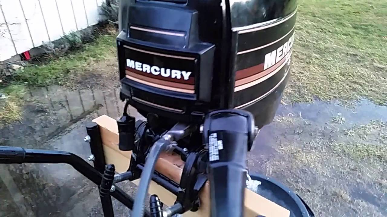 MERCURY 110 98HP OUTBOARD 2STROKE START UP AND IDLE