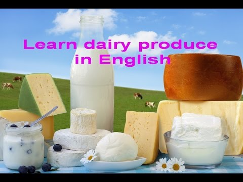 Английский детям. Учим молочные продукты на английском. English for kids.Dairy produce.